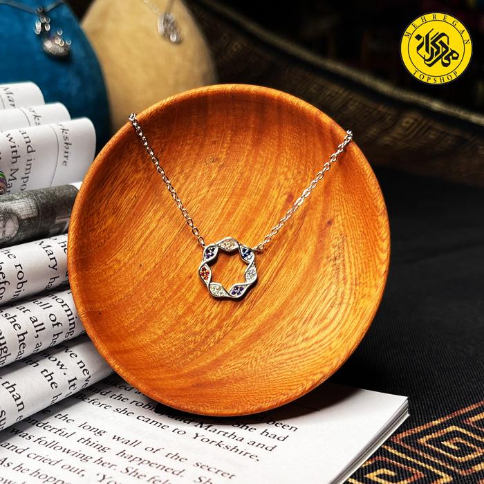 گردنبند نقره زنانه طرح ستاره زنجیری 3.08 گرمی
