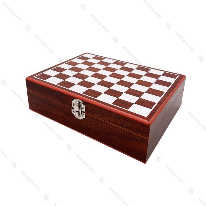 ست شطرنج و فلاسک جیبی طرح شاه شطرنج