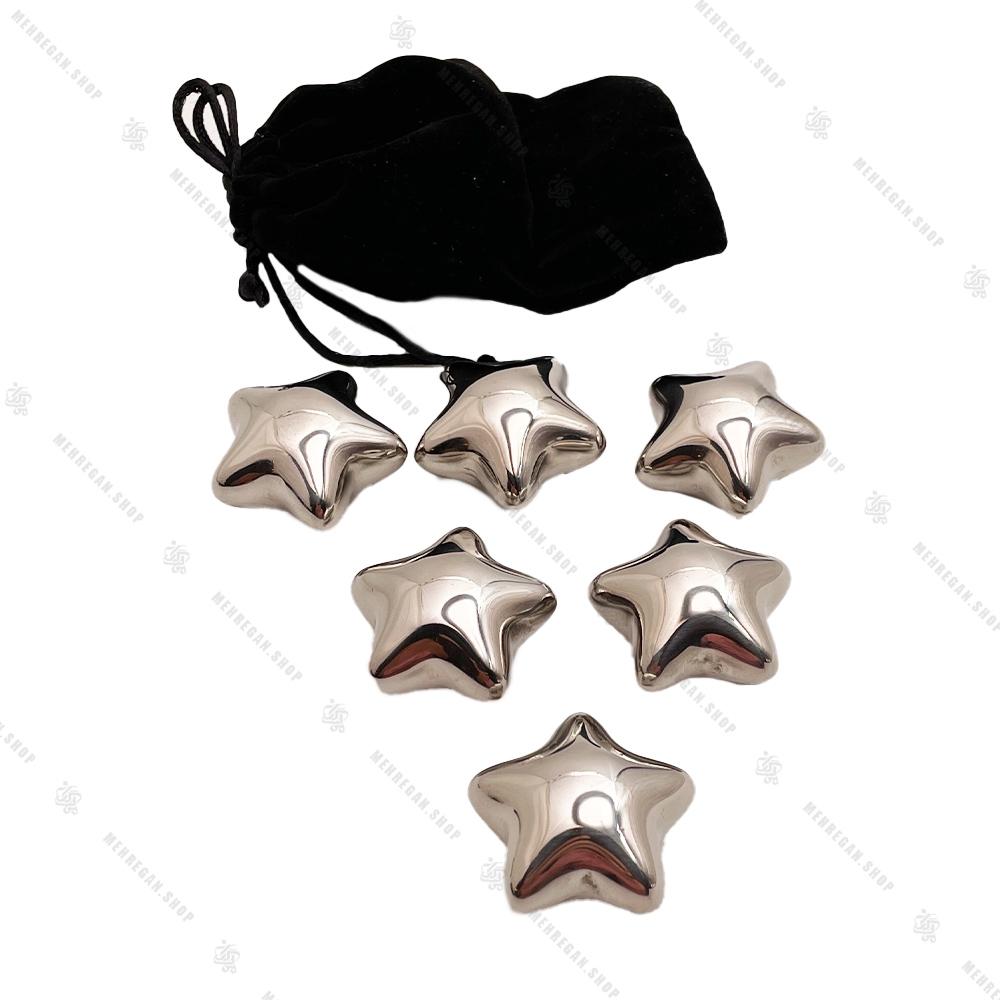 سنگ استیل خنک کننده مدل ستاره ای 6 عددی