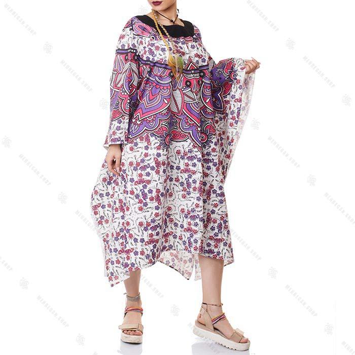 پانچو سنتی هیپی استایل زنانه – Hippie Style Women Pancho
