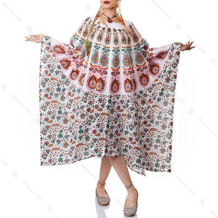 پانچو سنتی زنانه هیپی استایل – Tradition Hippie Poncho
