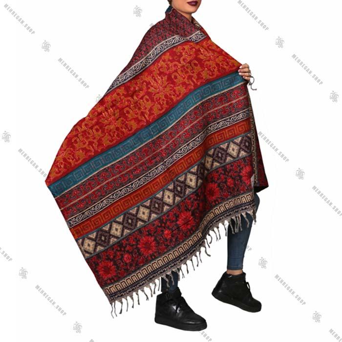 شال رودوشی و رویه لباس کد 7001