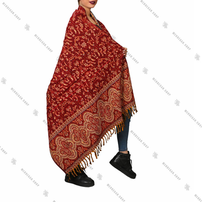 شال رودوشی و رویه لباس کد 7007