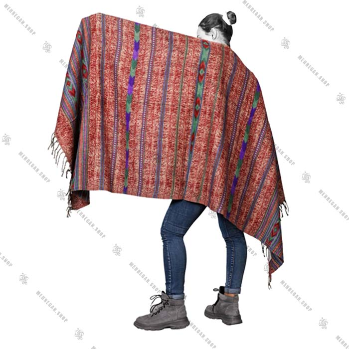شال رودوشی و رویه لباس کد 7015