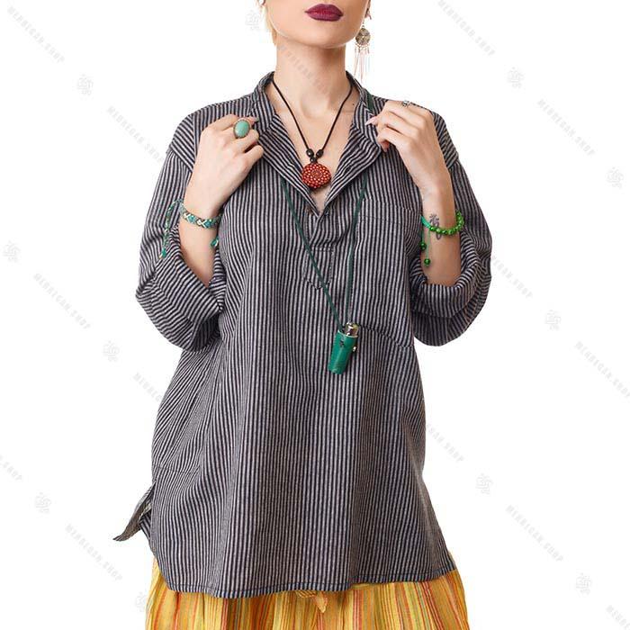 پیراهن سنتی یوگا خاکستری – Grey Kurta Shirts