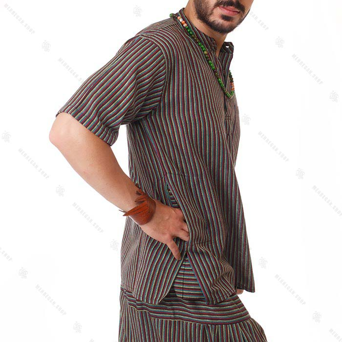 پیراهن سنتی آستین کوتاه جامایکن – Jamaican Kurta Shirt