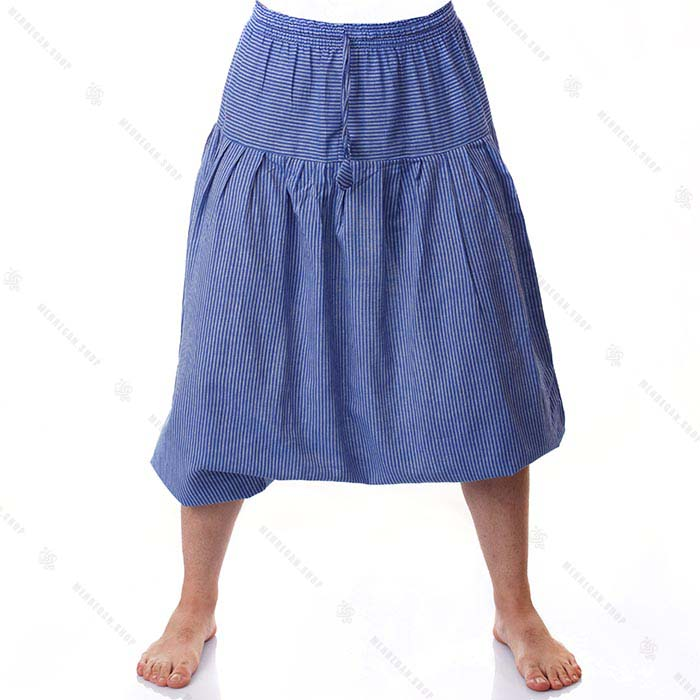 شلوار سنتی هیپی استایل آبی دریایی – Sky Blue Kurta Trouser