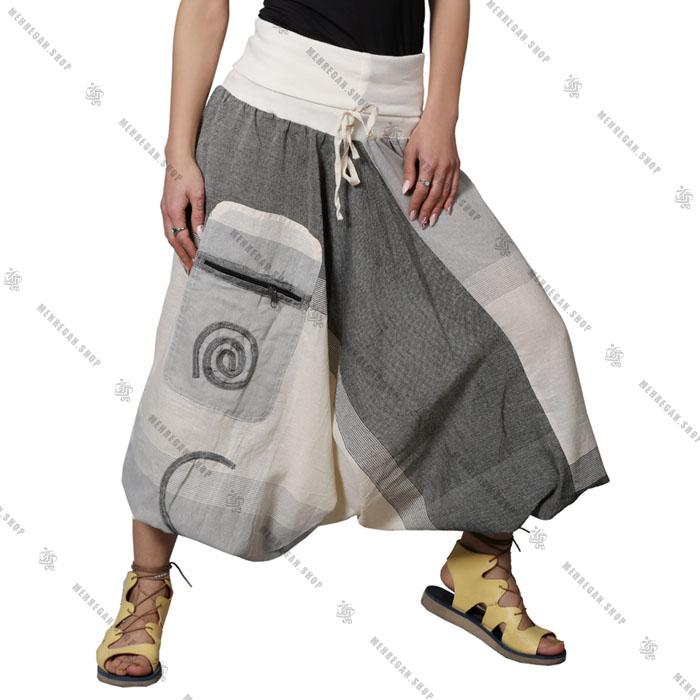 شلوار نپالی جیب دار فری سایز (کپی)