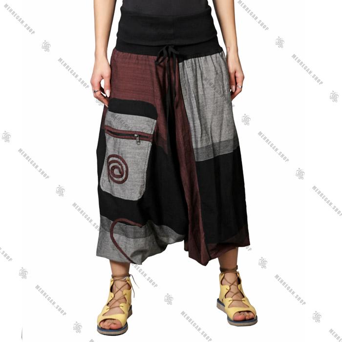 شلوار سنتی فری سایز نپالی جیب دار