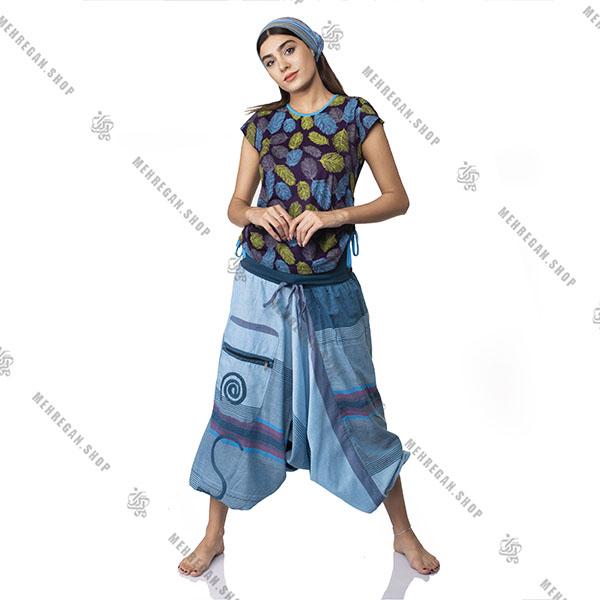 شلوار نپالی جیب دار فری سایز