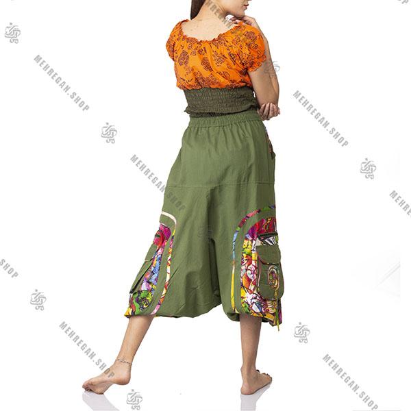 شلوار سنتی نپالی با الیاف و رنگ طبیعی