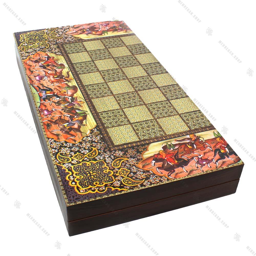 تخته نرد و صفحه شطرنج طرح قجری