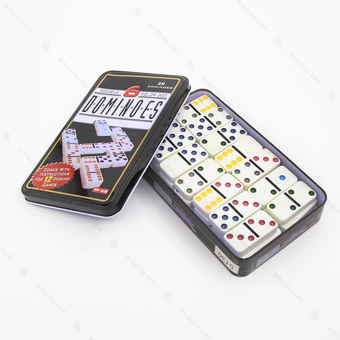 بازی فکری دومینو جعبه فلزی