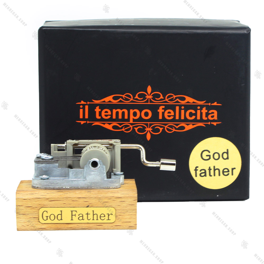 جعبه موزیکال مدل هندلی با ملودی گاد فادر-God Father