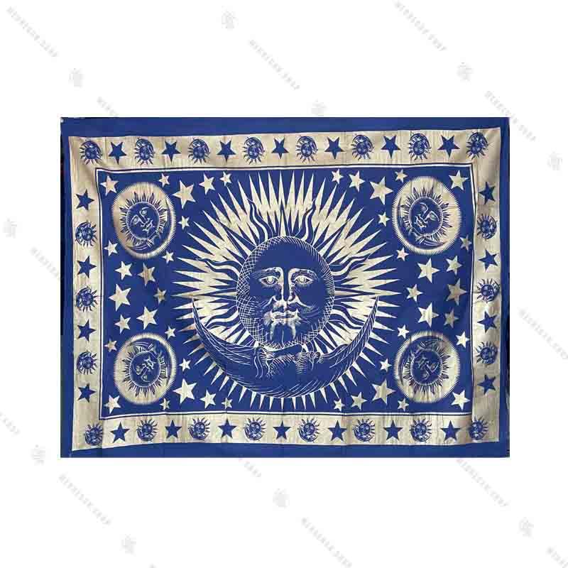 بک دراپ طرح ماه و خورشید آبی