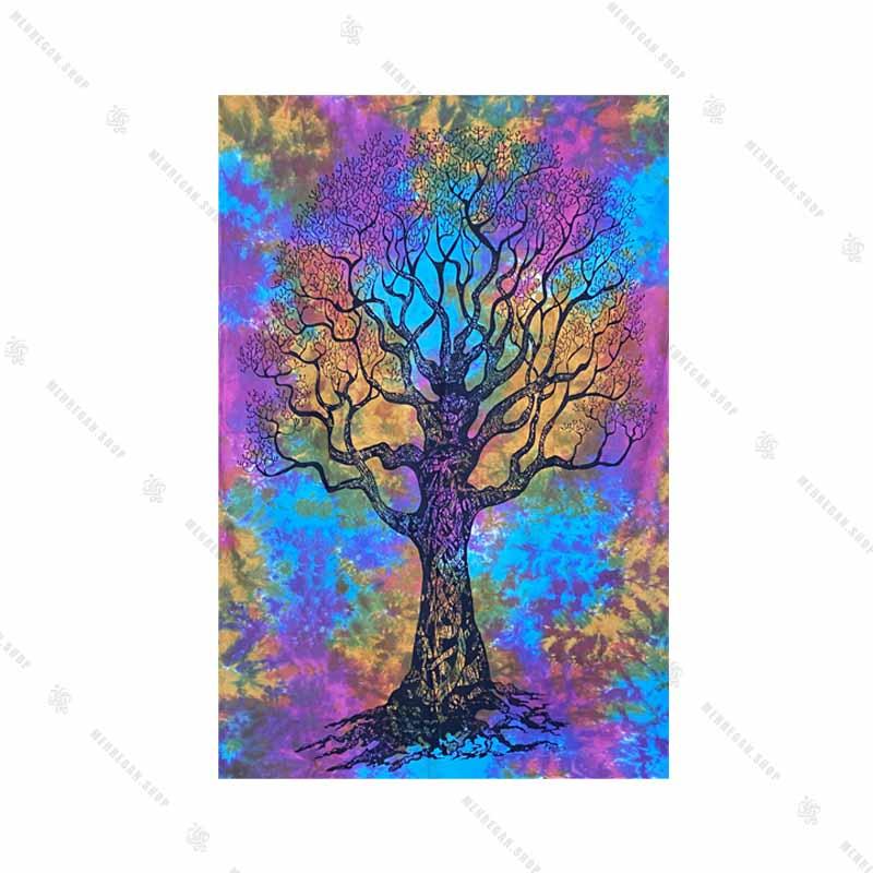 بک دراپ طرح درخت زندگی و ابر باد