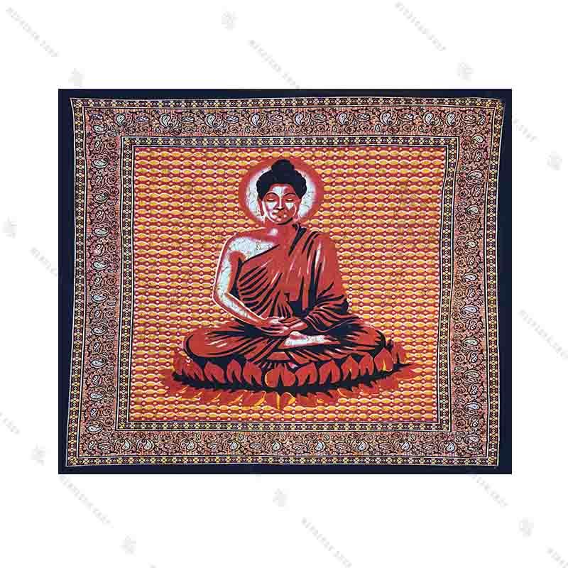 بک دراپ طرح بودا در اتش