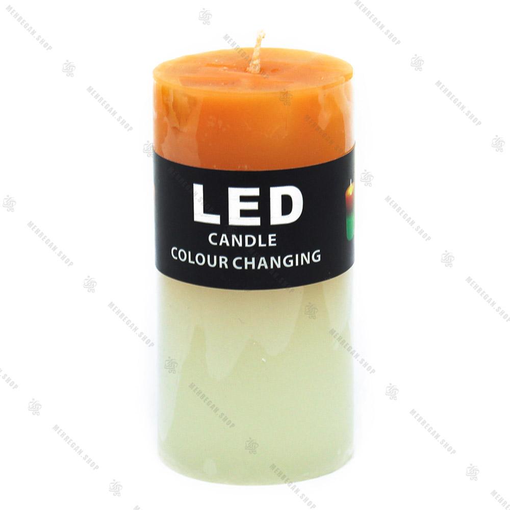 شمع ال ای دی دار نارنجی