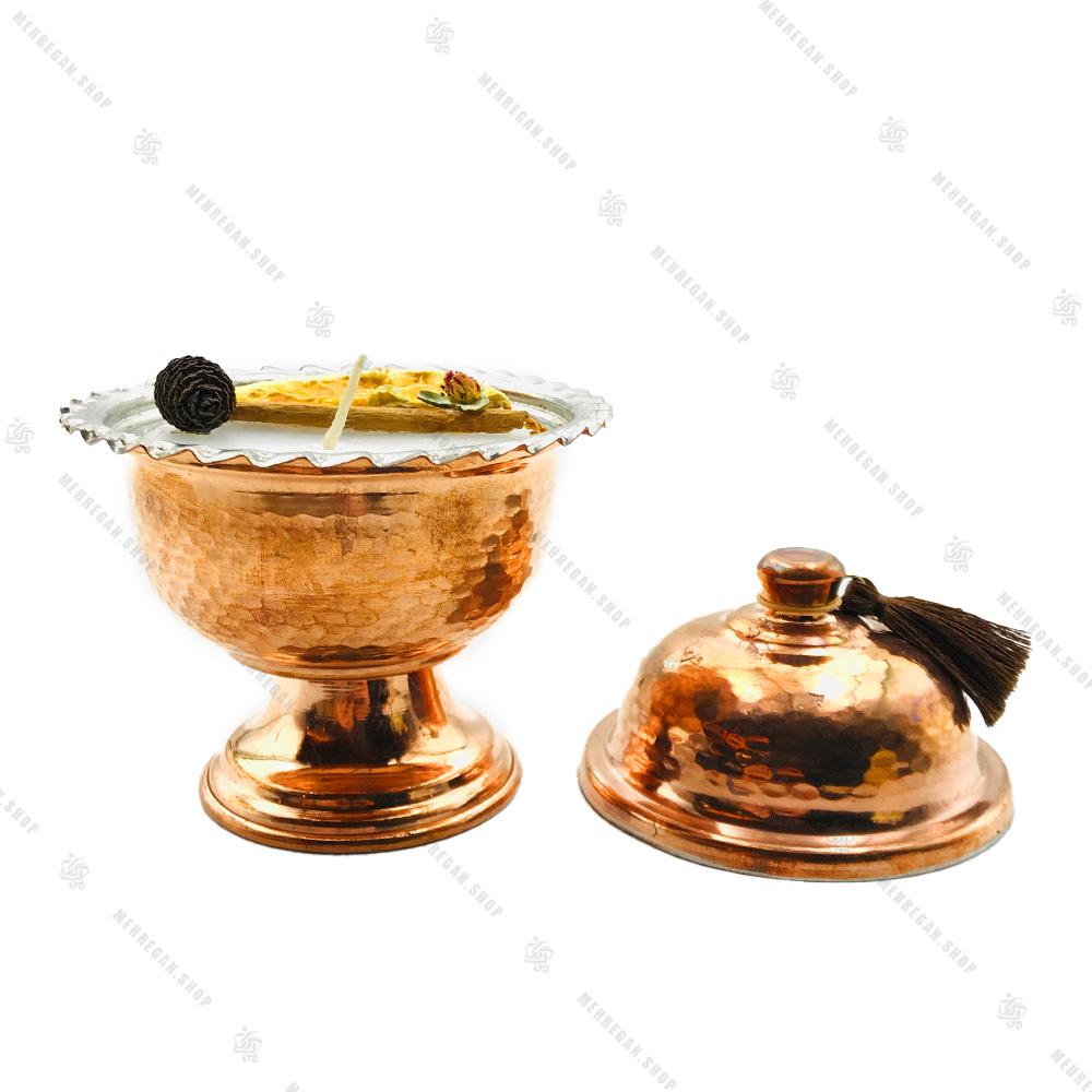 شمع دست ساز معطر با رایحه دارچین