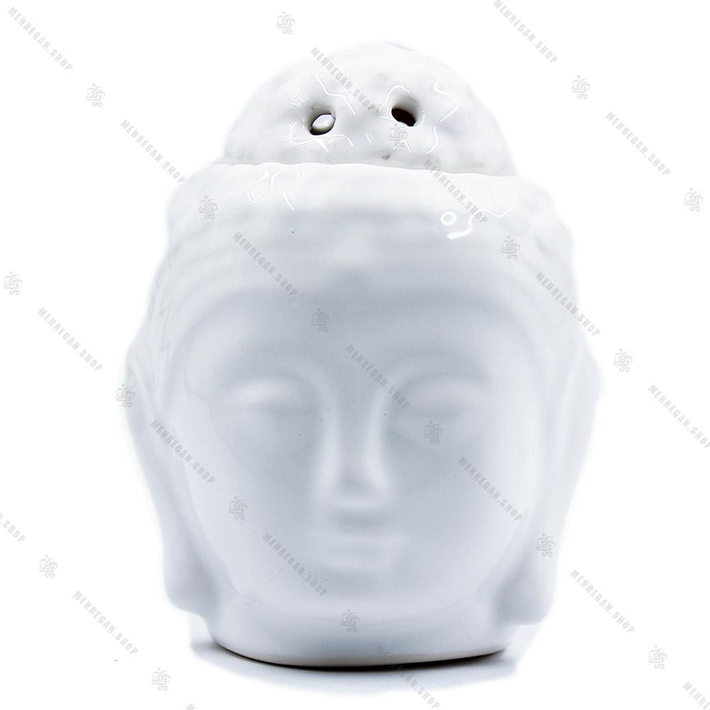 اسانس سوز سرامیکی مدل بودا سفید