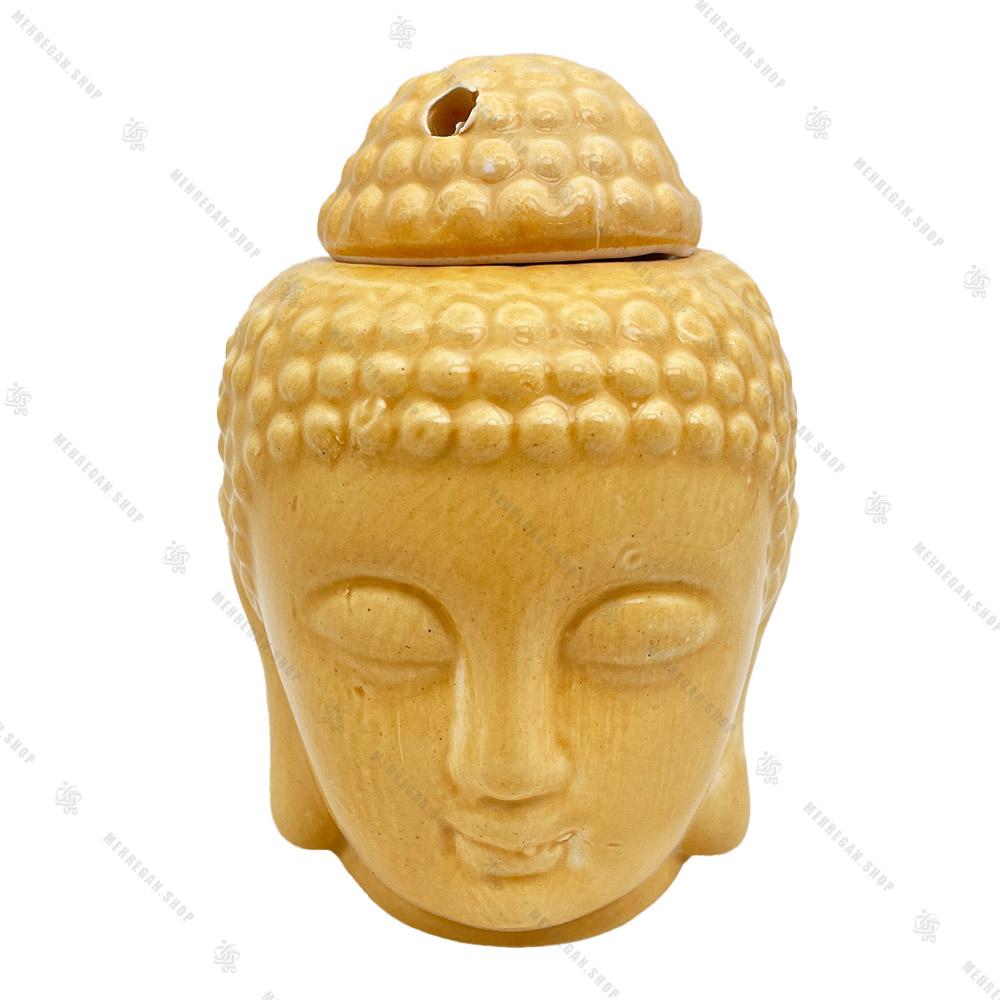 اسانس سوز سرامیکی مجسمه بودا طلایی