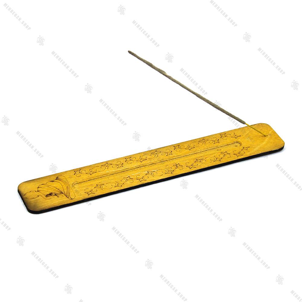 جاعودی چوبی خط کشی حکاکی شده زرد