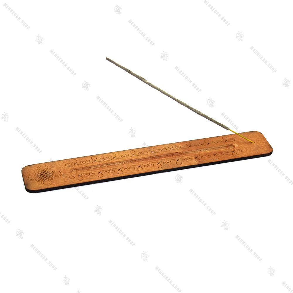 جاعودی چوبی خط کشی حکاکی شده نارنجی