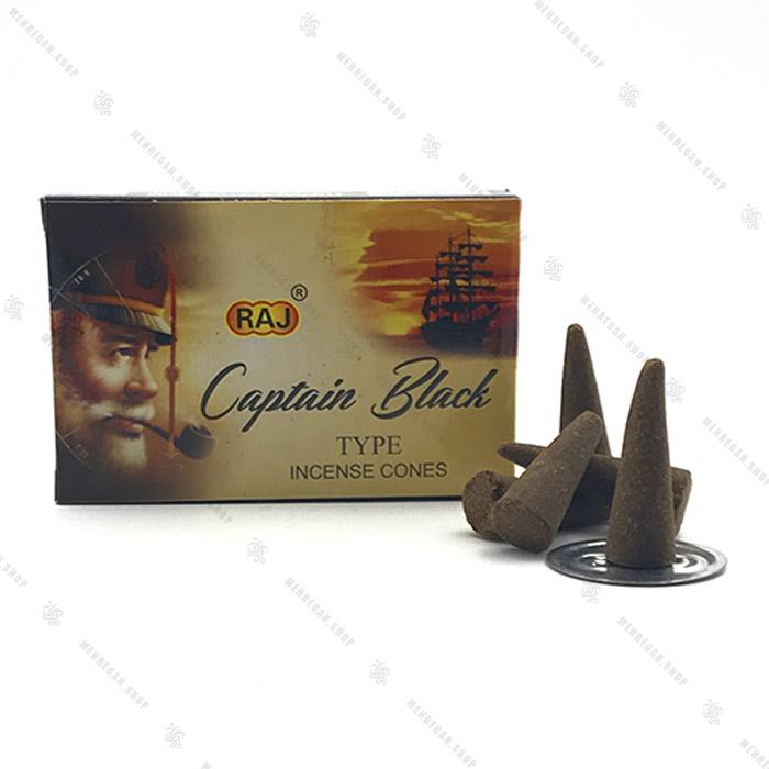 عود مخروطی راج مدل کاپیتان بلک Captain black