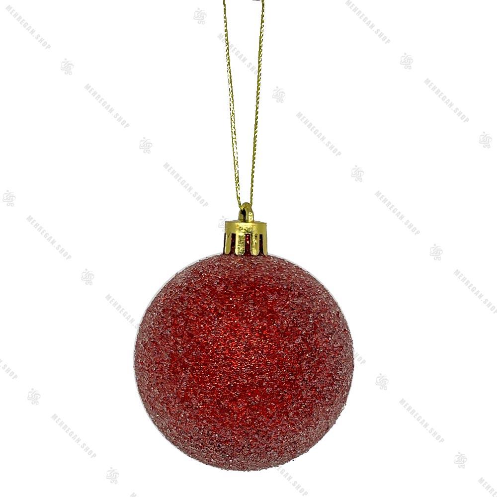 تک آویز کریسمس طرح گوی قرمز
