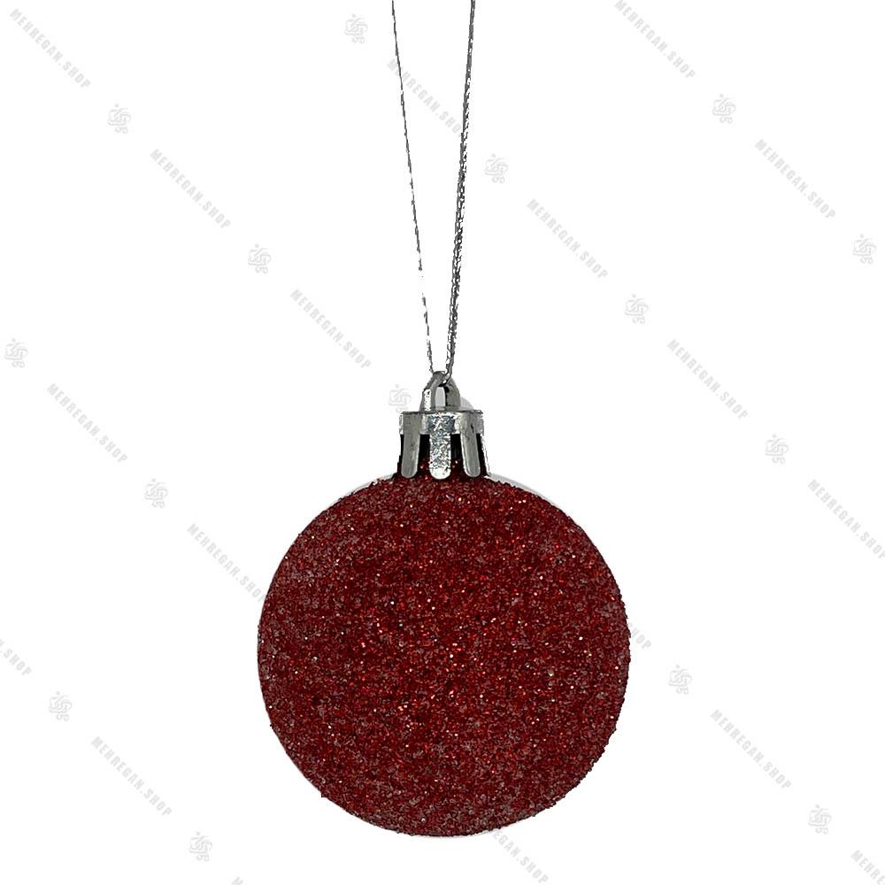 آویز کریسمس طرح گوی قرمز براق