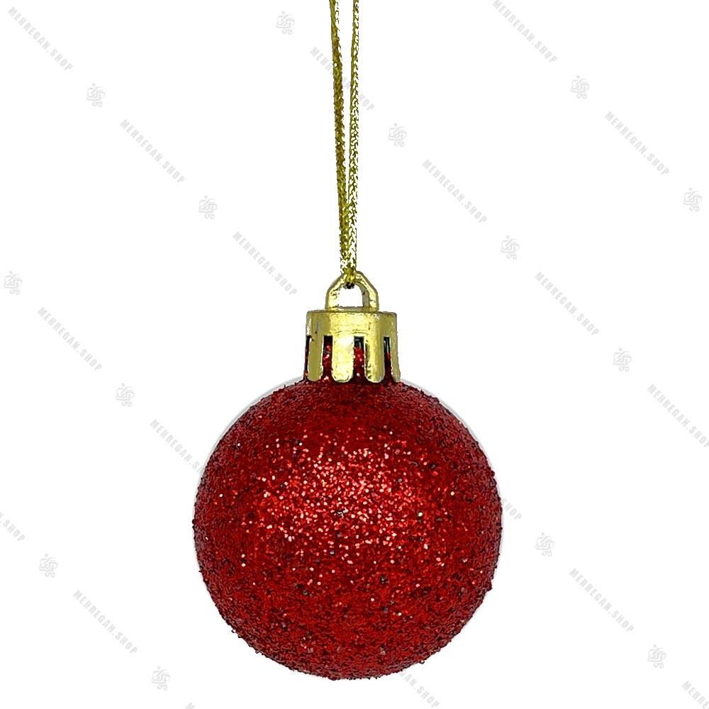 آویز کریسمس طرح گوی قرمز براق اکیلی