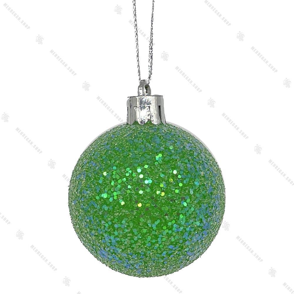 آویز کریسمس طرح گوی سبز براق اکیلی