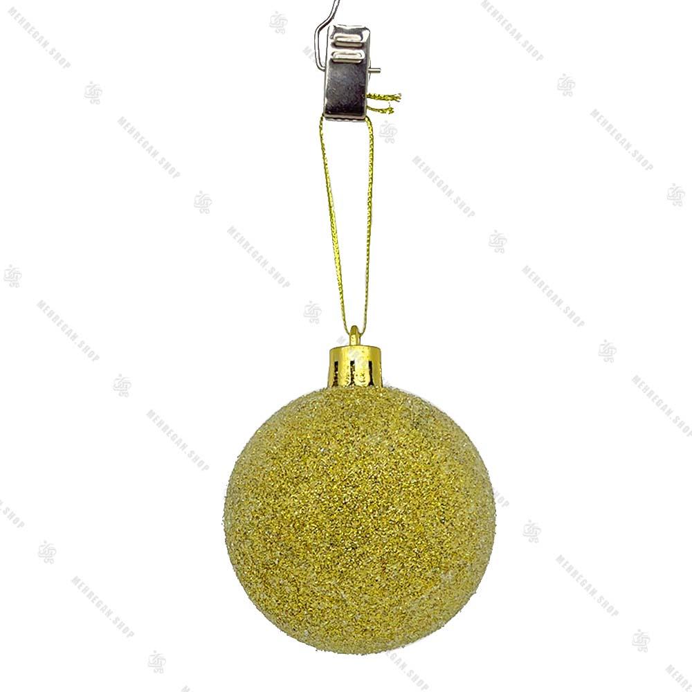 آویز کریسمس طرح گوی اکلیلی طلایی