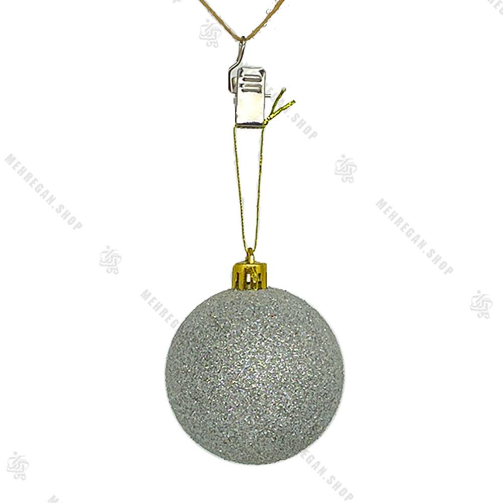آویز کریسمس طرح گوی اکلیلی طلایی (کپی)