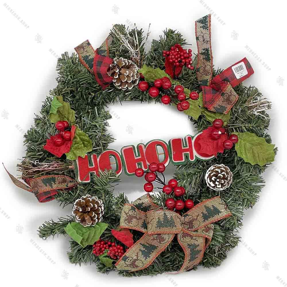 گل آویز حلقه ای پشت در کریسمسی