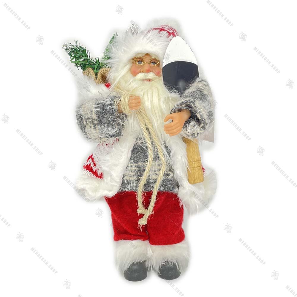 عروسک بابانوئل پلیور طوسی سایز بزرگ (کپی)