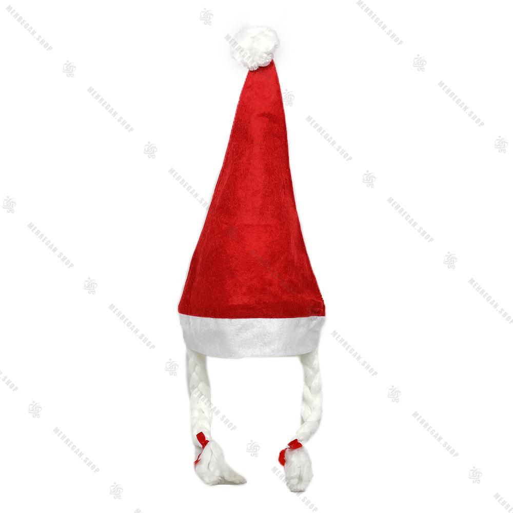 کلاه پشمی بابانوئل منگوله دار