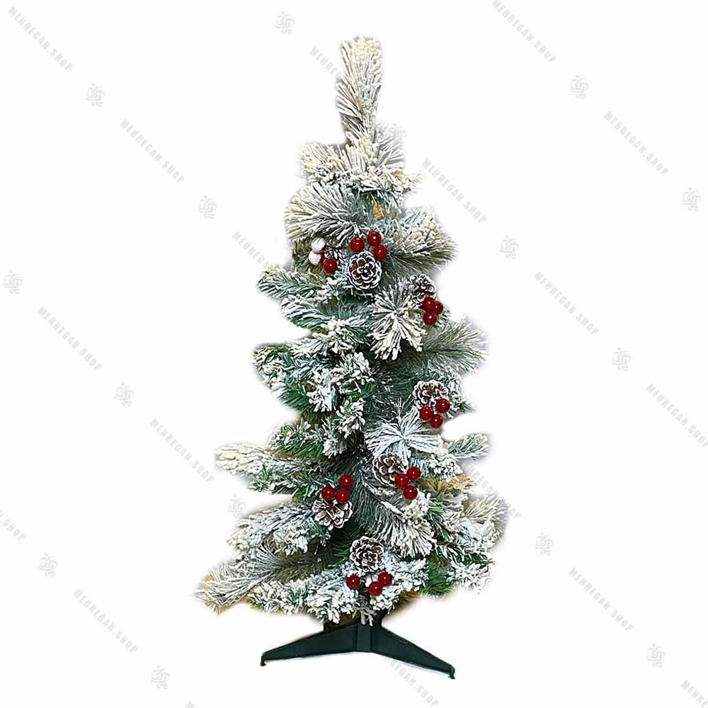 درخت کریسمس پهن برگ مدل برفی