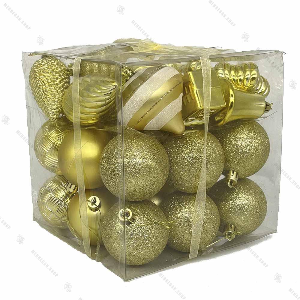 پکیج مربعی اویز کریسمس طلایی
