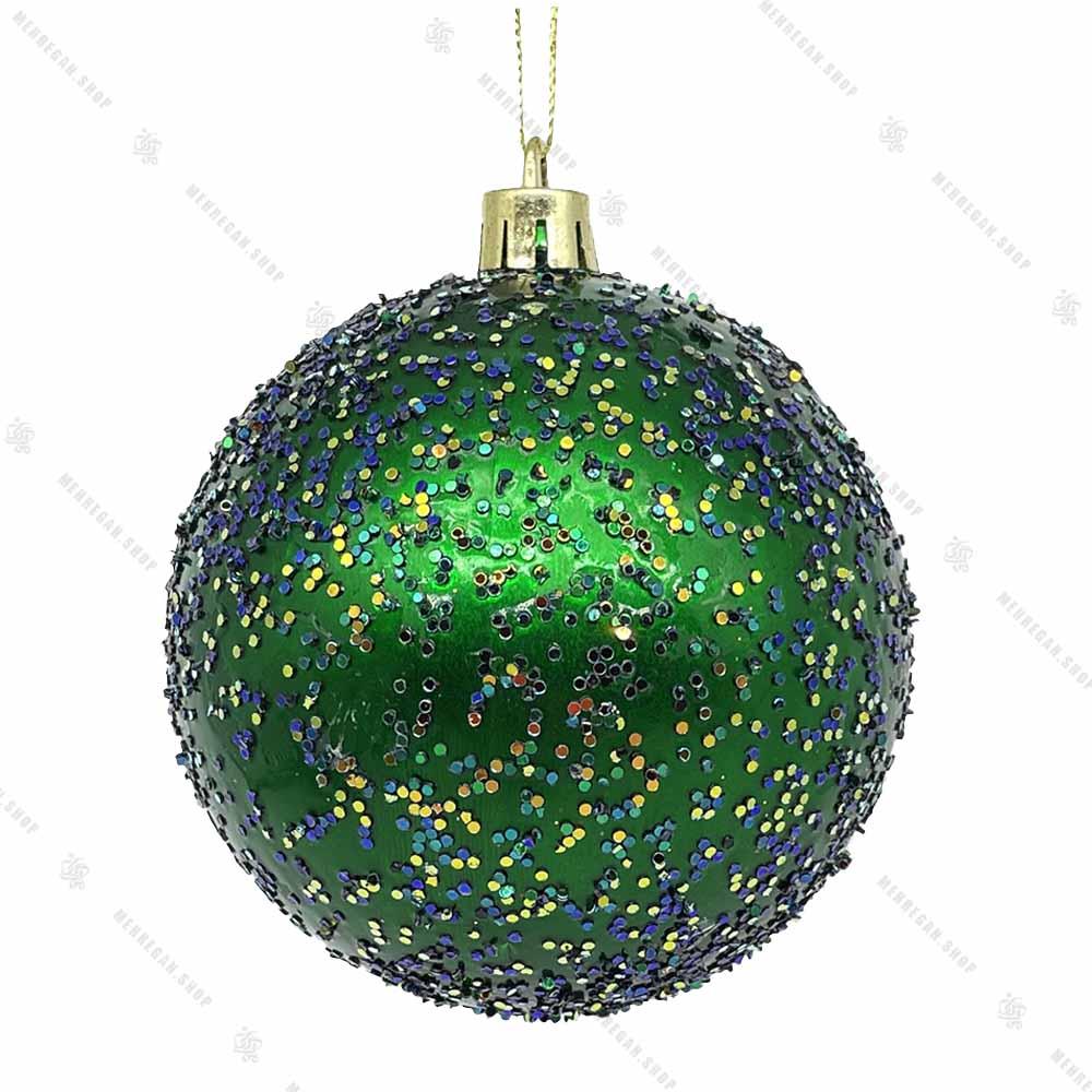 آویز کریسمس مدل گوی اکلیلی سبز کوچک