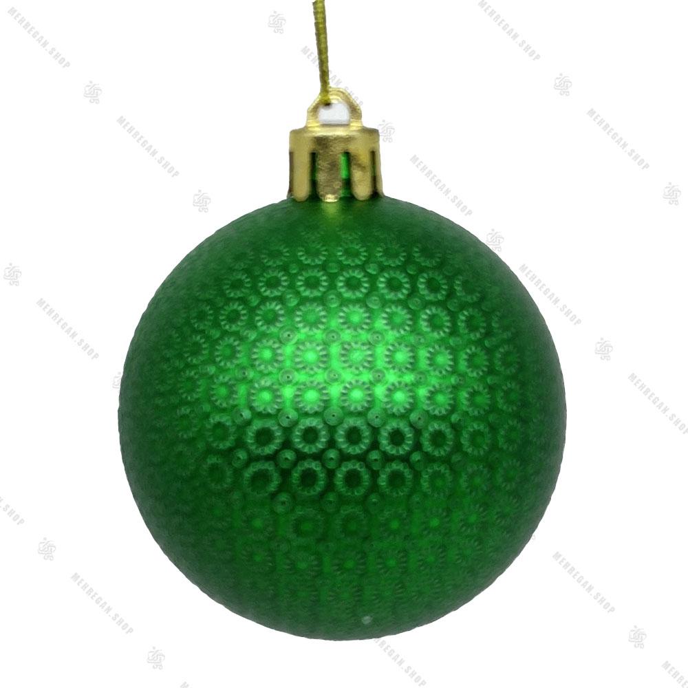 آویز کریسمس مدل گوی اکلیلی سبز کوچک (کپی)