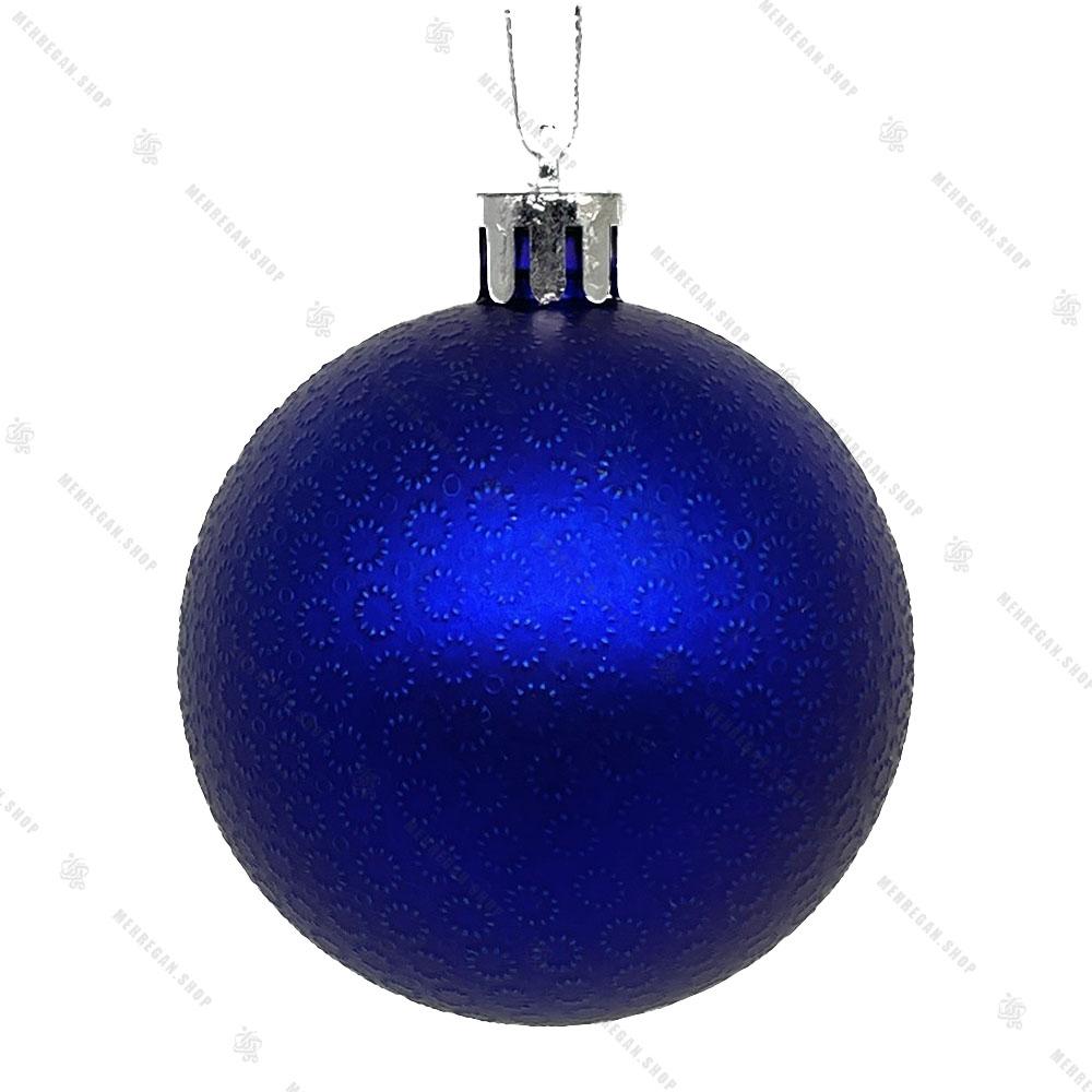 آویز کریسمس مدل گوی طرح دار آبی