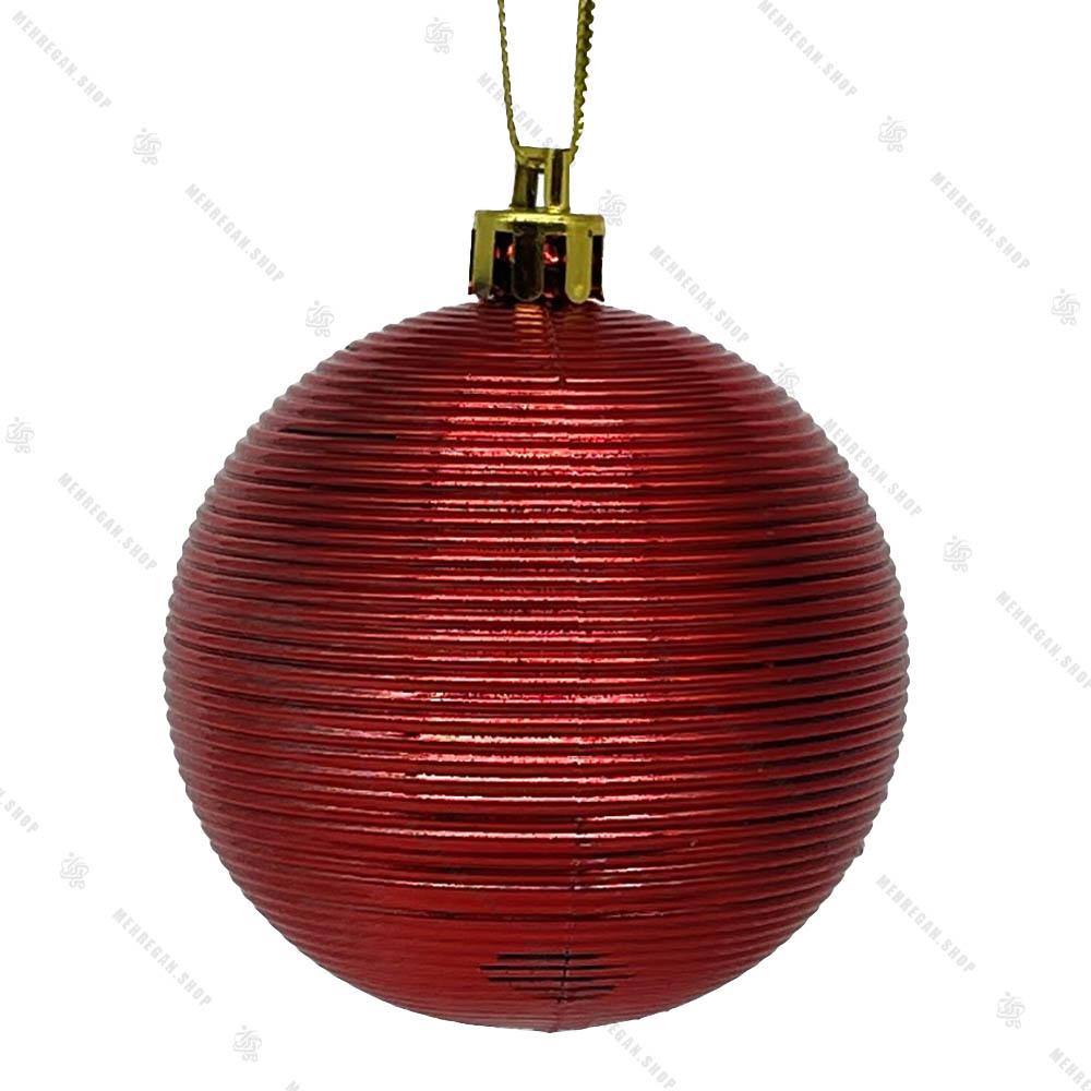 آویز کریسمس گوی مدل مومیایی قرمز
