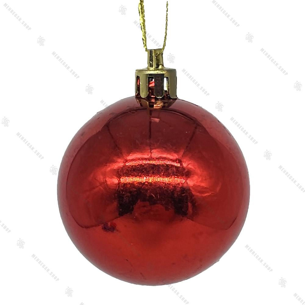 گوی آویز ساده کریسمسی قرمز (کپی)