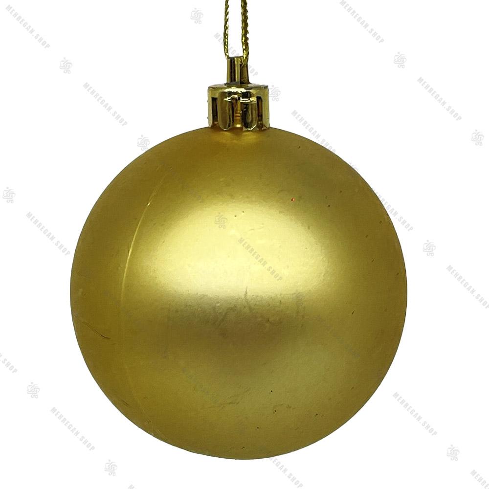 گوی آویز ساده کریسمسی طلایی مات