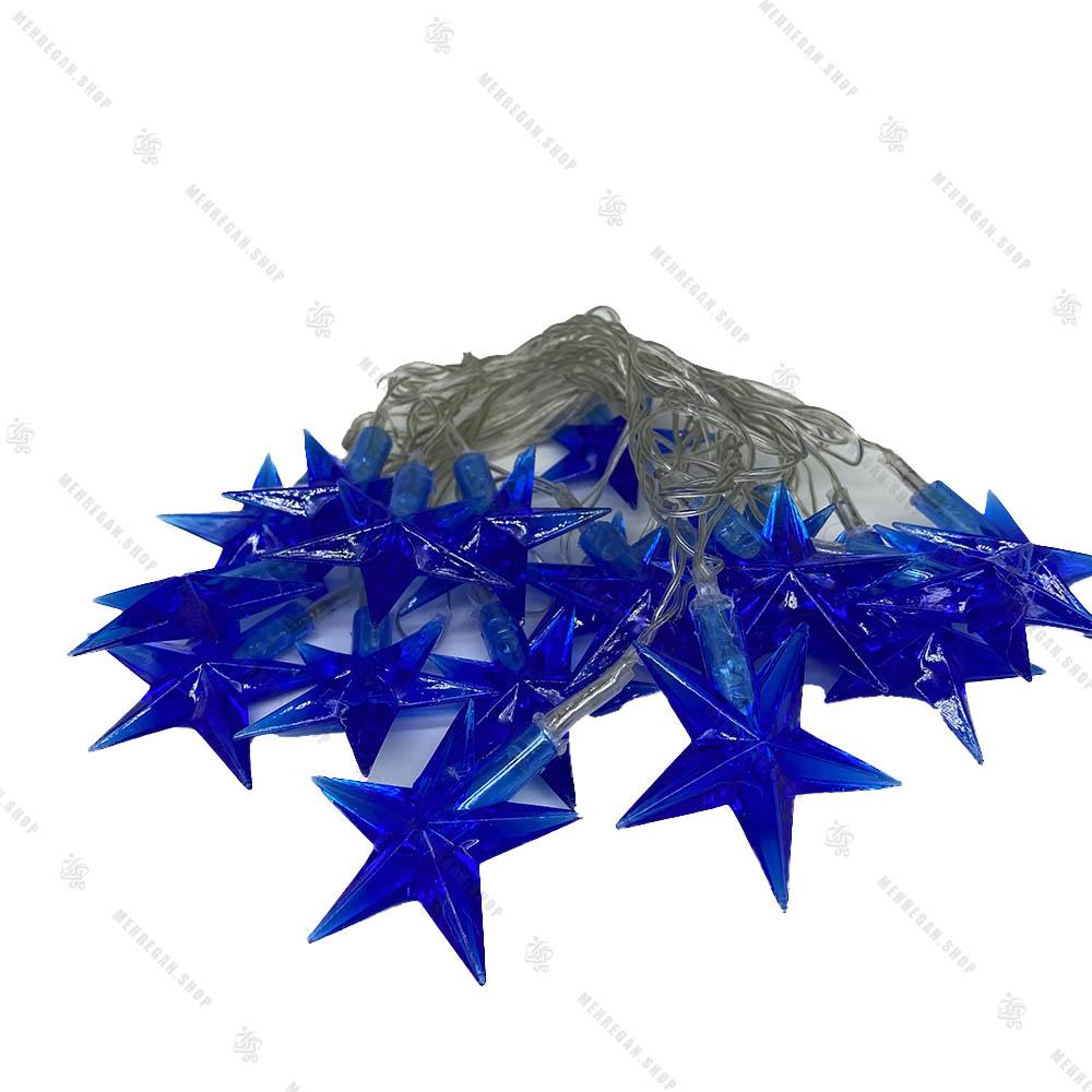 ریسه LED مدل ستاره بزرگ آبی