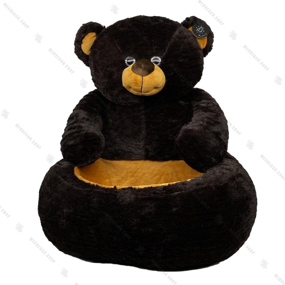 عروسک خرس نشسته سبددار پولیشی بزرگ