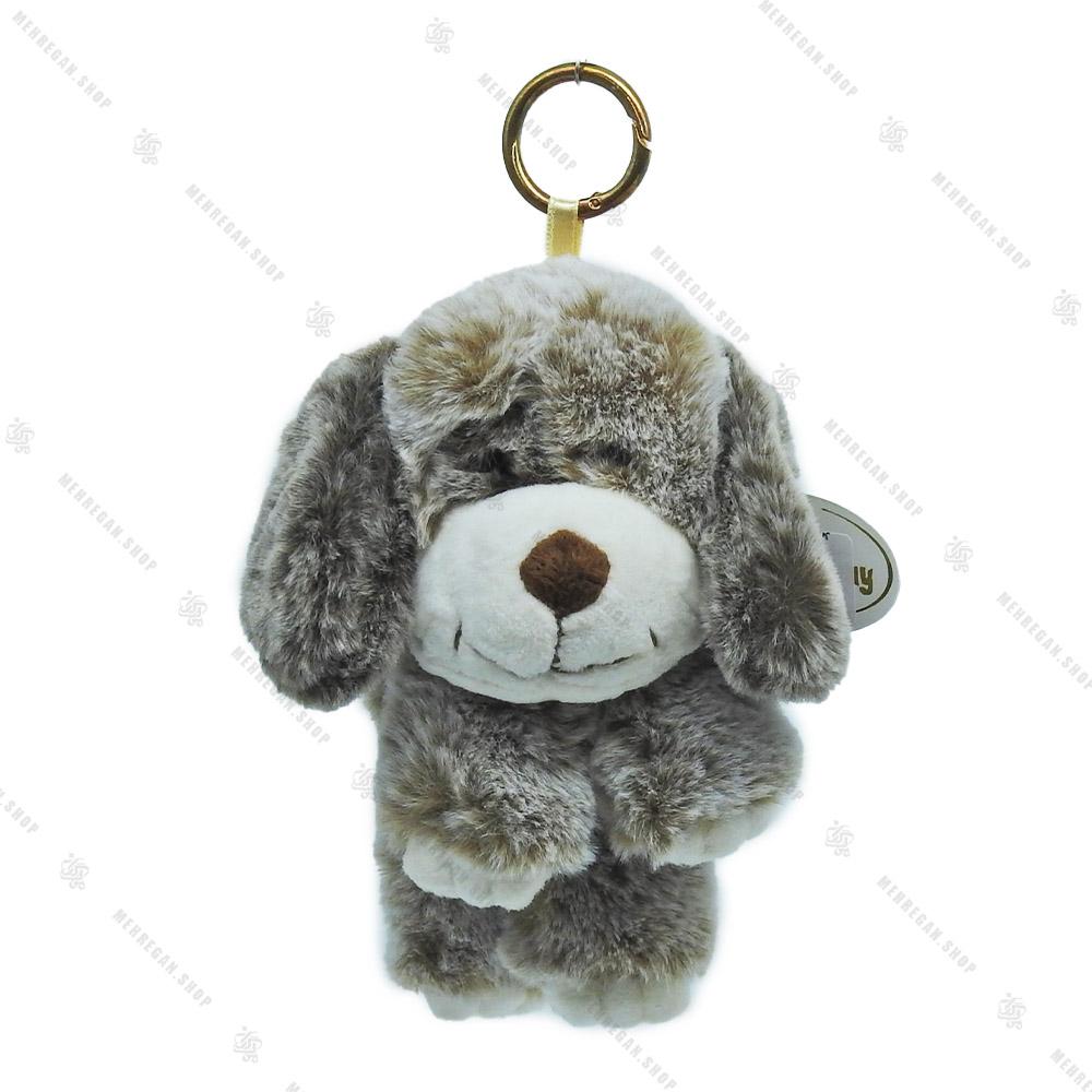 آویز عروسکی سگ خاکستری کوچک