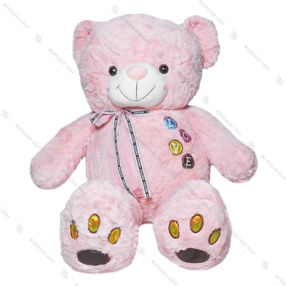 عروسک پولیشی خرس صورتی یک متری