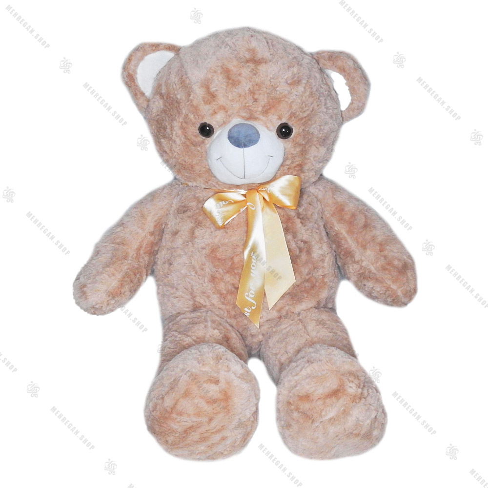 عروسک پولیشی خرس قهوه ای روشن
